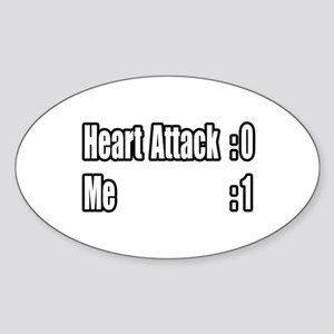 """Heart Attack Survivor"" Oval Sticker"