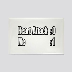 """Heart Attack Survivor"" Rectangle Magnet"