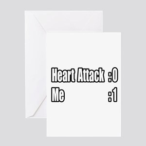 """Heart Attack Survivor"" Greeting Card"