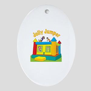 Jolly Jumper Oval Ornament