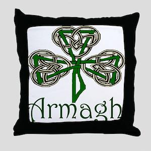 Armagh Shamrock Throw Pillow