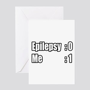 """I'm Beating Epilepsy"" Greeting Card"