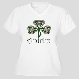 Antrim Shamrock Women's Plus Size V-Neck T-Shirt