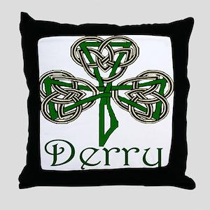 Derry Shamrock Throw Pillow
