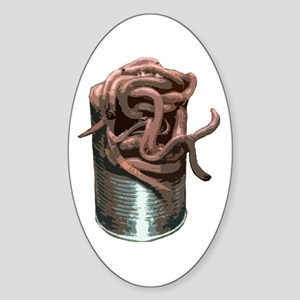 Can Of Worms Oval Sticker