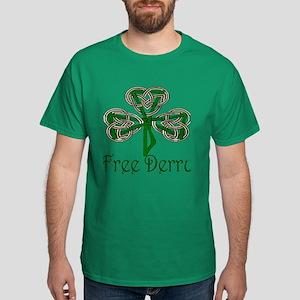 Free Derry Shamrock Dark T-Shirt
