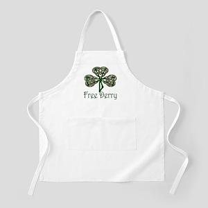 Free Derry Shamrock BBQ Apron