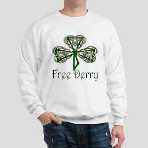Free Derry Shamrock Sweatshirt
