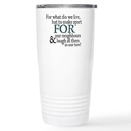 Jane Austen Make Sport Stainless Steel Travel Mug