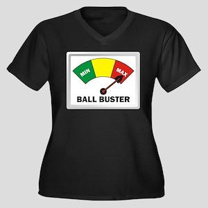 Ball Buster Women's Plus Size V-Neck Dark T-Shirt
