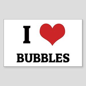I Love Bubbles Rectangle Sticker