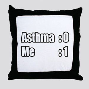 """I'm Beating Asthma"" Throw Pillow"