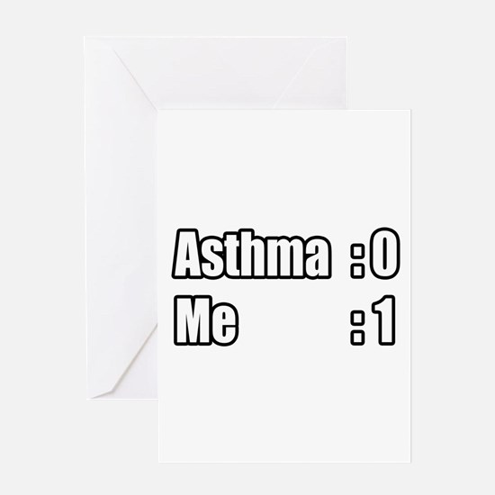 """I'm Beating Asthma"" Greeting Card"