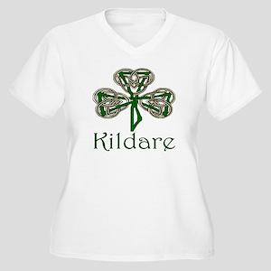 Kildare Shamrock Women's Plus Size V-Neck T-Shirt
