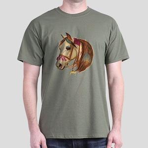 Arabian Horse Illustration Dark T-Shirt
