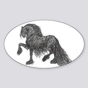 """Friesian Style"" Oval Sticker"