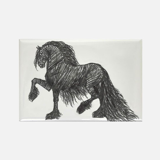 """Friesian Style"" Rectangle Magnet"