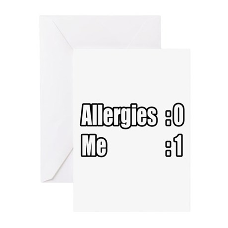"""""""I'm Beating My Allergies"""" Greeting Cards (Pk of 2"""
