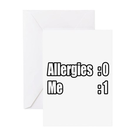 """""""I'm Beating My Allergies"""" Greeting Card"""