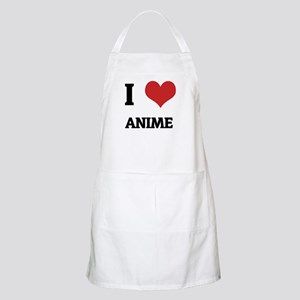 I Love Anime BBQ Apron