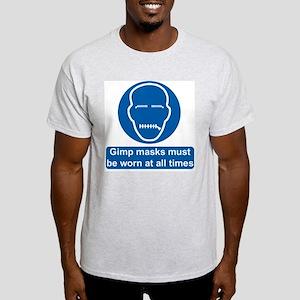 Gimp Mask Comedy Sign Ash Grey T-Shirt