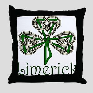 Limerick Shamrock Throw Pillow