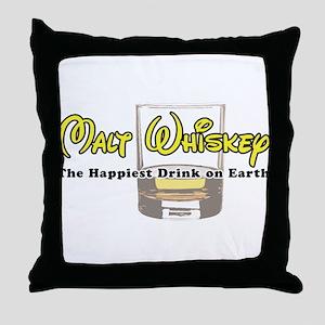 Malt Whiskey Throw Pillow