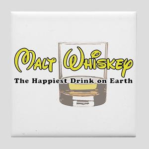 Malt Whiskey Tile Coaster