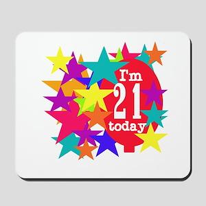 Balloon and Stars 21st Birthday Mousepad