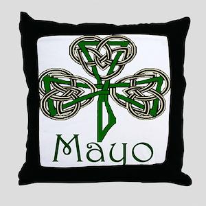 Mayo Shamrock Throw Pillow