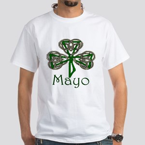 Mayo Shamrock White T-Shirt