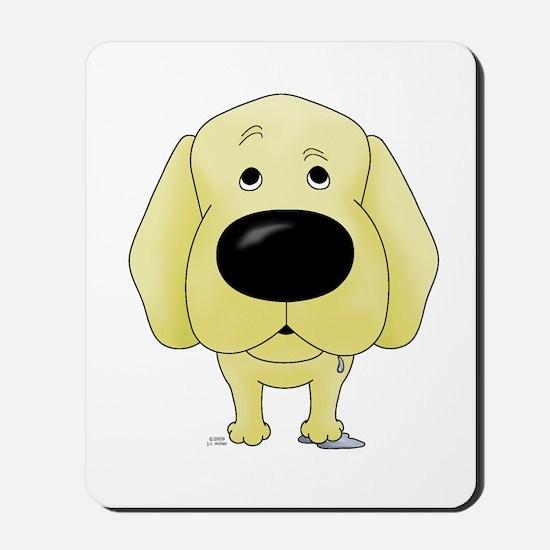 Big Nose Yellow Lab Mousepad