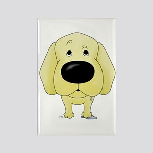 Big Nose Yellow Lab Rectangle Magnet