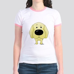 Big Nose/Butt Yellow Lab Jr. Ringer T-Shirt