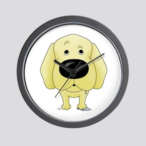 Big Nose Yellow Lab Wall Clock