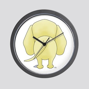 Big Butt Yellow Lab Wall Clock