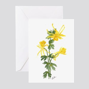 Golden Columbine Greeting Cards (Pk of 20)