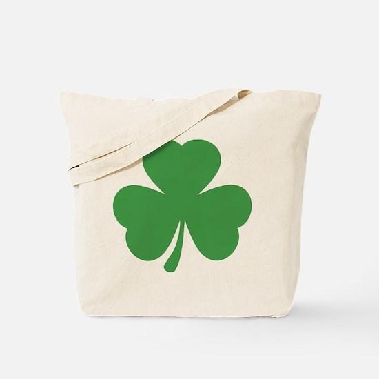 green shamrock irish Tote Bag