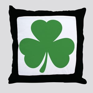 green shamrock irish Throw Pillow
