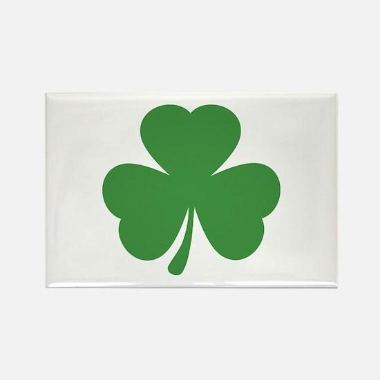 green shamrock irish Rectangle Magnet