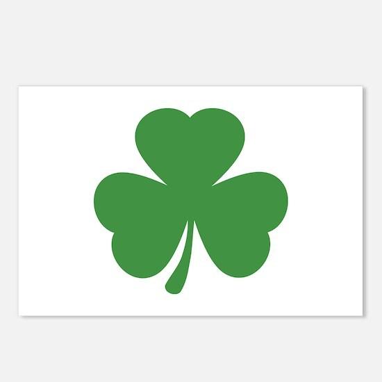 green shamrock irish Postcards (Package of 8)