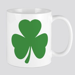 green shamrock irish Mug