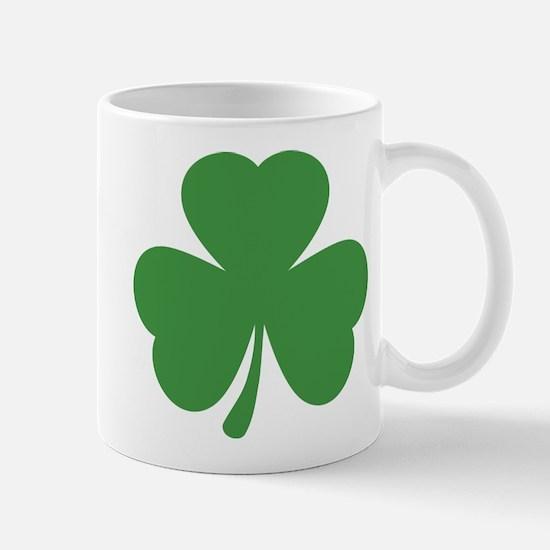 green shamrock irish Mug