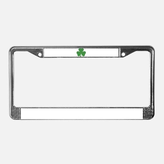 green shamrock irish License Plate Frame