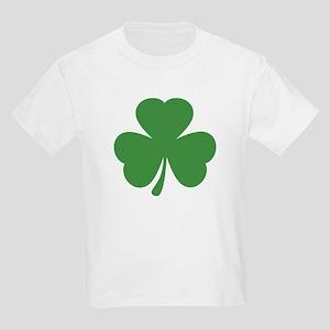 green shamrock irish Kids Light T-Shirt