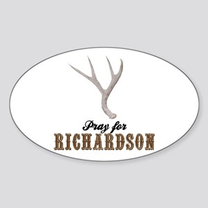 Pray for Richardson Oval Sticker