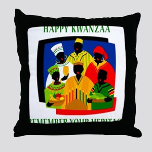 Happy Kwanzaa Throw Pillow