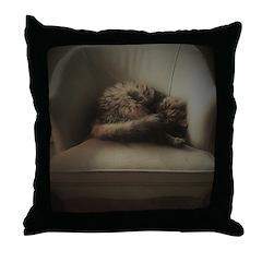 Cat Lounge Throw Pillow