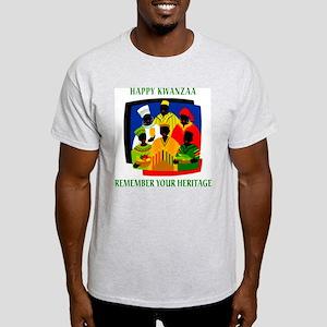 Happy Kwanzaa Ash Grey T-Shirt