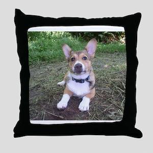 Spring Corgi Throw Pillow